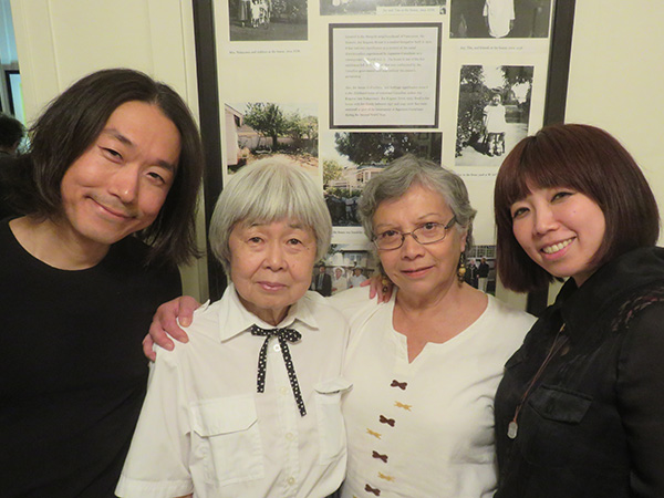 With Joy Kogawa and friends at Historic Joy Kogawa House in Vancouver. May, 2017.