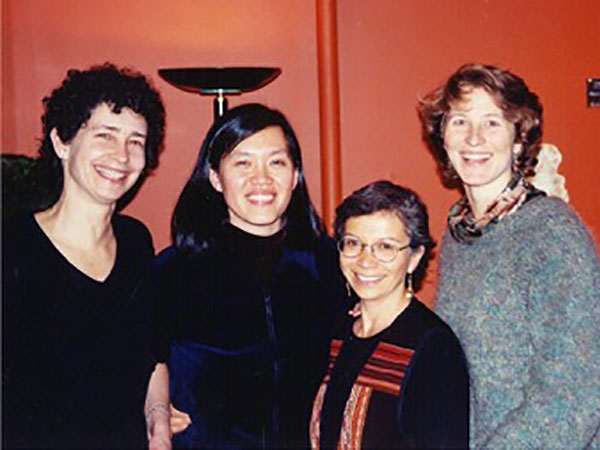 With writers Nancy Richler, Lydia Kwa and Angela Hryniuk. January, 1999.