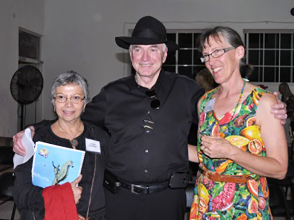 With writer William Gordon and friend, Puerto Vallarta Writers Group's Conference. February, 2012.