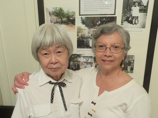 With Joy Kogawa at Historic Joy Kogawa House in Vancouver. May, 2017