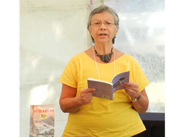 Carmen Rodriguez at the San Miguel de Allende Writers Festival, 2013.